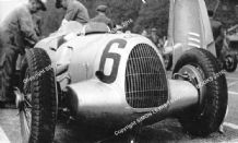 Auto Union C Type V16 Muller's car on the grid Donington GP 1937